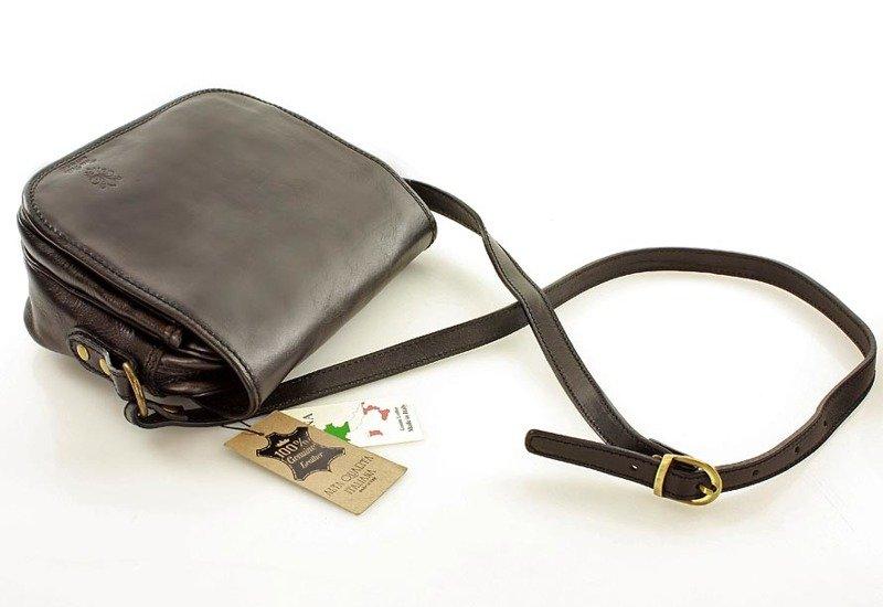 4f2d910709302 MAZZINI DESTINY - Włoska torebka na długim pasku czerwona - Merg.pl