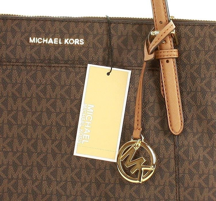 afe847b923096 Markowa torebka shopper tote bag MICHAEL KORS - CIARA - BROWN/ ACRN ...