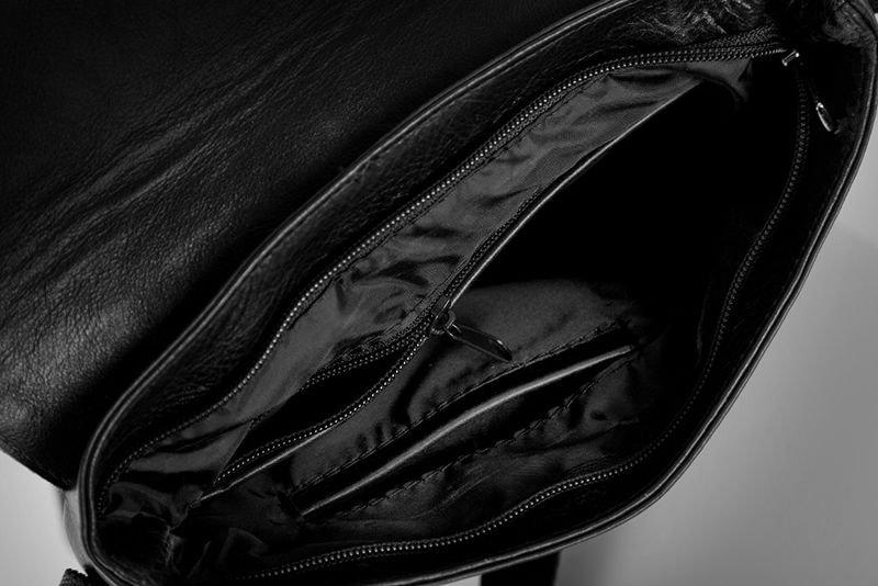 ec39f629ecc31 Solier Skórzana torba na ramię   tablet VALENTIN czarna - Merg.pl
