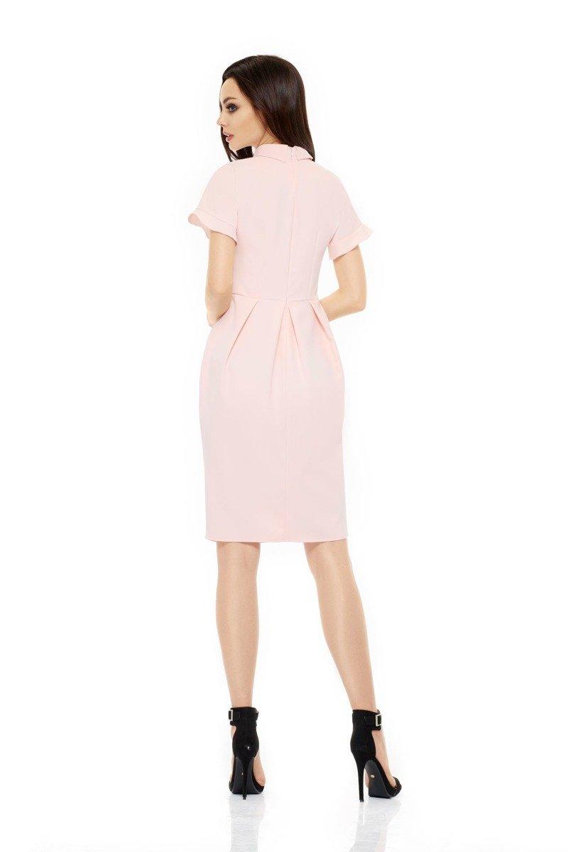 0e6e1ad164 lemoniade Modna elegancka sukienka pudrowy róż LUNA - Merg.pl