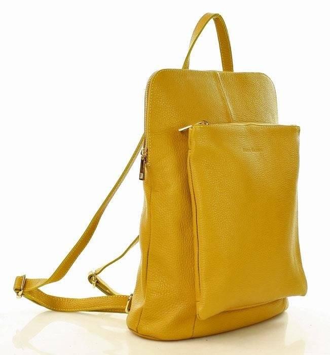 47b62a9cb4256 ... Camilla MARCO MAZZINI Plecak damski torebka crossbody A4 żółty ...