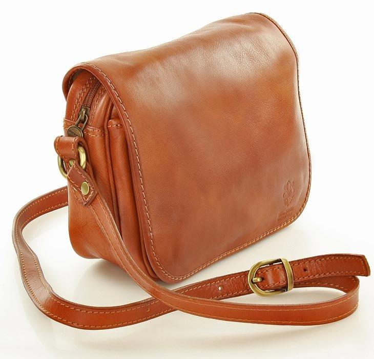3795403979ef5 MAZZINI DESTINY - Włoska torebka na długim pasku czerwona - Merg.pl