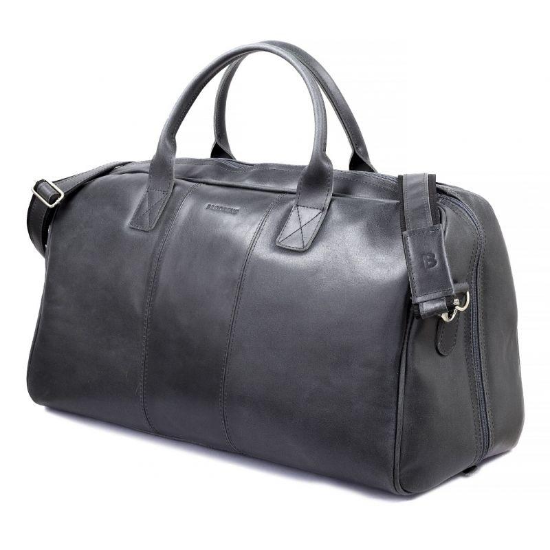 6554ed722e48e ... GERONE Grafitowa męska torba ze skóry Podróżna smooth leather ...