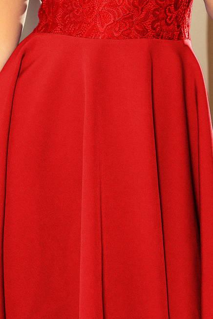 Sukienka MARIA z koronką - CZERWONA