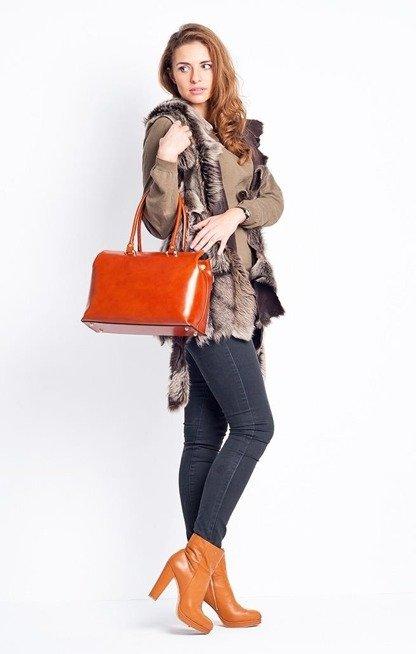 Torebka ze Skóry Moda Donna Camel
