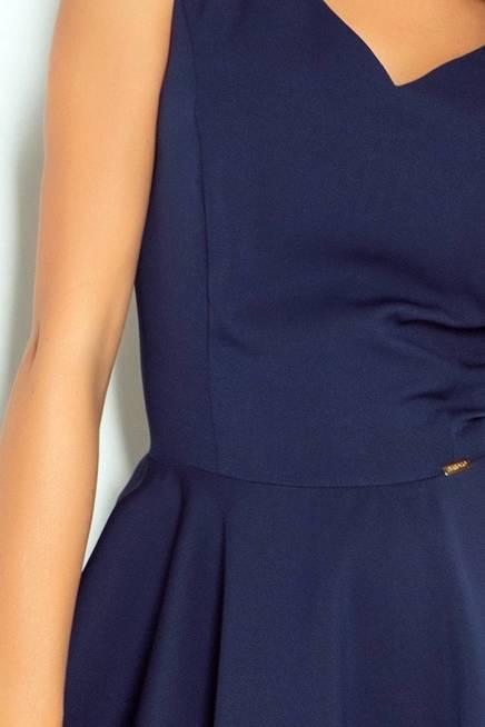 Marina Sukienka z koła - dekolt w kształcie serca - GRANAT
