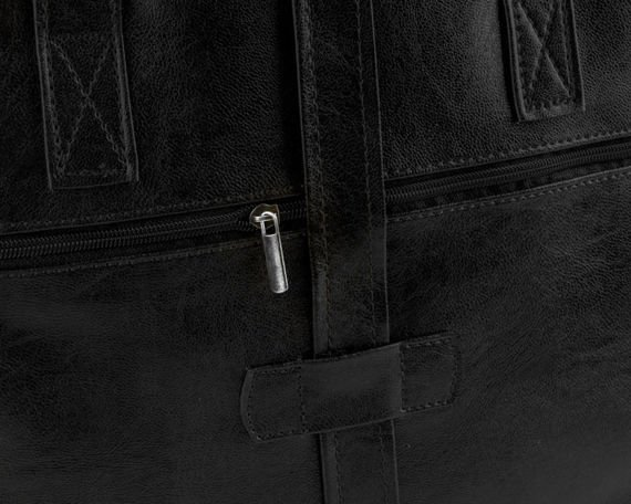 LUISE Czarna torba męska na ramię Solier vintage