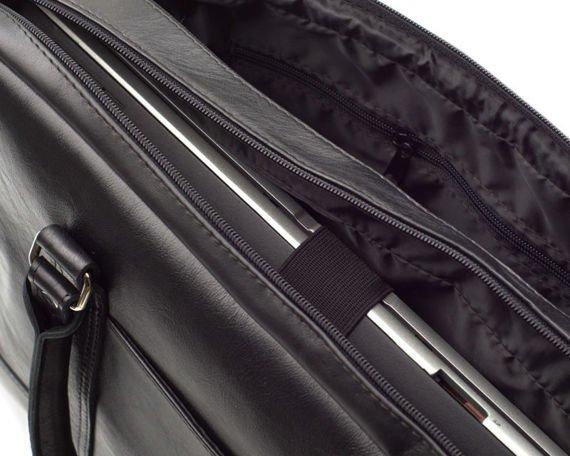 Elegancka Męska torba ze skóry na ramię RUSSEL czarny