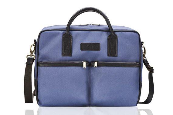 CIDRO Męska torba na ramię na laptopa niebieska
