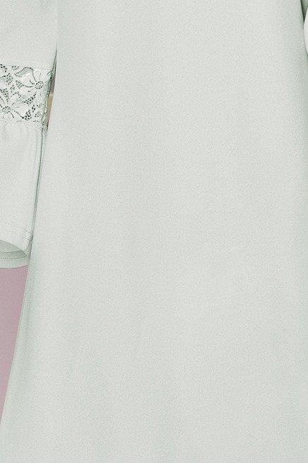 Haven sukienka z koronką na rękawkach - BŁĘKIT