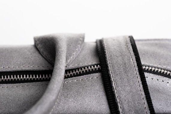 Skórzana torba Elegancja i nowoczesność Szara