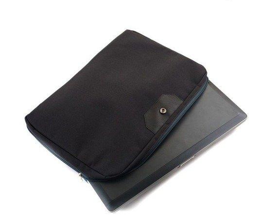 Damska skórzana torba na laptopa RUBY granatowa