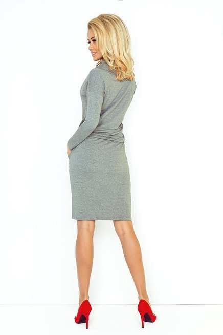 Chantal Sukienka sportowa z golfem - ŚREDNI SZARY - pętelka