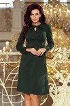 Allie sukienka trapezowa z wiązaniem pod szyją - ZIELEŃ BUTELKOWA