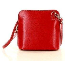 CeciliaListonoszka skórzana torebka MAZZINI - Lux czerwona