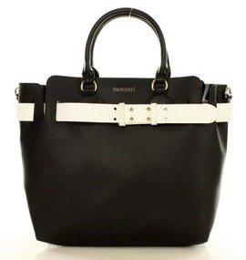 MONNARI Elegancka torebka kuferek czarny